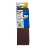 Norton 07660702062 Metalite R215/R255 AO Medium Grit Cloth Portable Belt, 3 in. x 21 in.