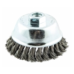 Norton 66252839060 4 in. Knotted Wire Cup Brush