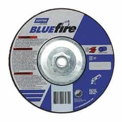 66252843215 Blue Fire Plus Depressed Center Abrasive Wheel Type 27 Zirconia Alumina and Aluminum Oxide by Norton