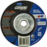 Norton 66252843585 Gemini A AO Type 27 Grinding Wheel 4-1/2 in. x 1/4 in.