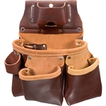 Occidental Leather 5018DBLH 3 Pouch Pro Tool Bag - Left Handed Best Tool Belt Systems Made in America