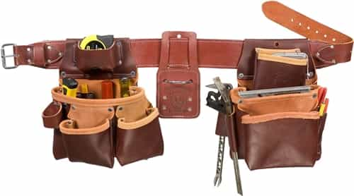 Occidental Leather 5080DBLH SM Pro Framer Set with Double Outer Bag - Left Handed Best Tool Belt Systems Made in America