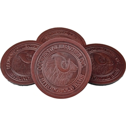 Occidental 6025 Leather Coaster 4-Pack