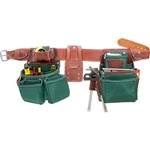 Occidental Leather 8080DBLH SM OxyLights Framer Set with Double Outer Bags - Left Handed Best Tool Belt Systems Made in America
