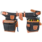 Occidental Leather 9850 Adjust-to-Fit Fat Lip Tool Bag Set - Black Best Tool Belt Systems Made in America