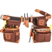 Occidental Leather 9855LH Adjust-to-Fit Fat Lip Tool Bag Set - Cafe - Left Best Tool Belt Systems Made in America