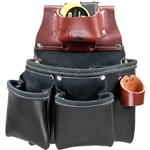 Occidental Leather B5018DB 3 Pouch Pro Tool Bag - Black Best Tool Belt Systems Made in America