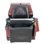 Occidental Leather B5060 3 Pouch Pro Fastener Bag - Black Best Tool Belt Systems Made in America
