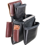 Occidental Leather B5060LH 3 Pouch Pro Fastener Bag - Black Best Tool Belt Systems Made in America
