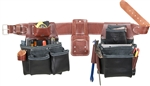 Occidental Leather B5080DBLH LG Pro Framer Set - Black Best Tool Belt Systems Made in America