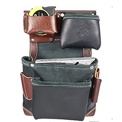 Occidental Leather B5611 Green Building Fastener Bag - In Black Best Tool Belt Systems Made in America