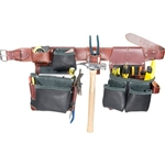 Occidental Leather B5625 M Green Building Framer Set - In Black Best Tool Belt Systems Made in America