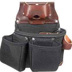 Occidental Leather B8018DB OxyLights 3 Pouch Tool Bag - Black Best Tool Belt Systems Made in America