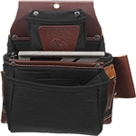 Occidental Leather B8060 OxyLights 3 Pouch Fastener Bag - Black Best Tool Belt Systems Made in America