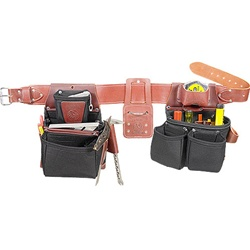 Occidental Leather B8080DB SM OxyLights Framer Set with Double Outer Bags - Black Best Tool Belt Systems Made in America