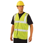 Occunomix LUX-SSCOOLG Mesh Dual Striped Safety Vest Class 2
