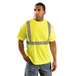 OccuNomix LUX-SSETP2B Class 2 Wicking Birdseye Mesh Safety T-Shirt - Yellow