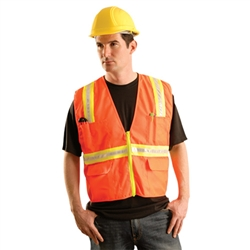 Occunomix LUX-XTRNSM Classic Mesh Two-Tone Safety Vest