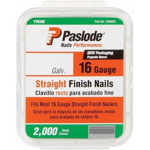 Paslode 650284 16 Ga. Straight Trim Nails 1 3-4 in. 2000 Ct.