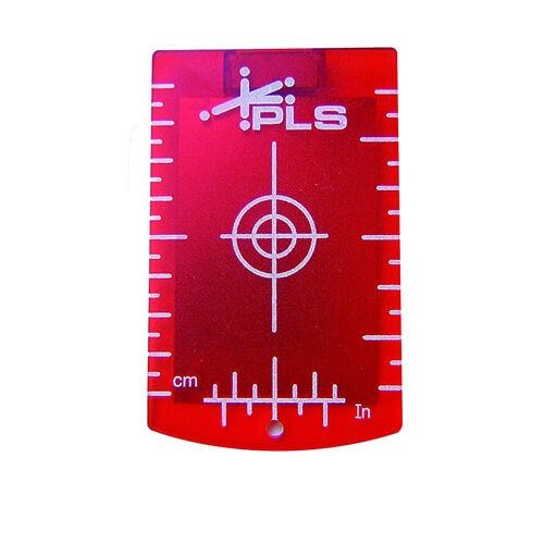 PLS 4845094 308 Red Magnetic Ceiling Target with Support Leg