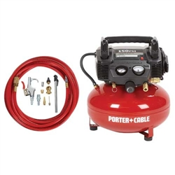 150 PSI, 6 Gal. Compressor w/13 Piece Hose & Accessory Kit