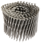 "PrimeSource MAXC62816 Stainless Steel 15 Degree Coil 1-1/2"" x .090"" Wood Siding Nail 304SS - 3,600 pcs"