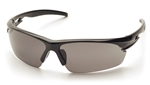 Pyramex SB8120DT Ionix Safety Glasses with Black Frame and Smoke Anti-Fog Lens