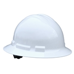 Radians QHR6-WHITE Hard Hats, Quartz Full Brim, 6 Pt Rtcht