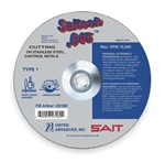 "Sait 23174 4-1/2"" x .045"" x 7/8"" Metal Cut-Off Wheel aluminum oxide wheels made by United Abrasives"