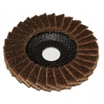 "71980 4-1/2"" x 7/8"" Sand-Light Flap Disc Coarse Brown by Sait"