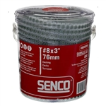 Senco 08D300W 3 Inch Exterior Wood To Wood Collated Screws 800 Pack