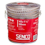 Senco 08F150Y 8G 1 1-2 in. Collated Flooring Screws