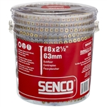 Senco 08F250Y Interior 8 Gauge 2-1/2 Inch Wood To Wood Screws