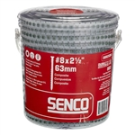 Senco 08R250W 2-1/2 Inch x #8 Exterior Trim Head Collated Screws