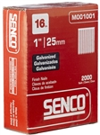 Senco M001001 16 Ga. x 1 Inch Galvanized Straight Strip Finish Nails 2000 Pack