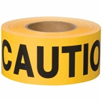 Shurtape 232531 BT 100 Non-Adhesive Barricade Tape Yellow 3 in. x 1000 ft.