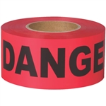 Shurtape 232532 Barricade Tape DANGER 3 in. x 1000 ft. Red