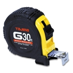 Tajima Hand Tools G-30BW Features 30 ft. x 1 inch wide steel tape with new Hyper-Coat blade coating