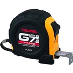 Tajima Hand Tools G-7.5MBW Features 7.5m x 1 inch wide acrylic-coated steel tape