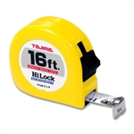 Tajima Hand Tools HL-16BW Features 16 ft. x 3/4 inch wide acrylic-coated steel tape