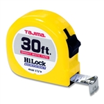 Tajima Hand Tools HL-30BW Features 30 ft. x 1 inch wide acrylic-coated steel tape