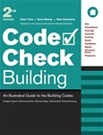 Taunton Press 070931 Code Check Building, 2nd Edition Spiral-Bound Paperback 8-1/2 x 11 in. 32 pages with 85 two-color drawings