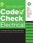 Taunton Press 071212 Taunton's Code Check Electrical, 5th Edition Spiral-Bound Paperback 8-1/2 x 11 in. 32 pages , with 100 drawings  Published 2008