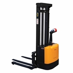 Vestil S-118-AA Adjust Powered Lift Stacker 118In Raised - Ergonomic Solutions
