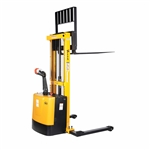 Vestil S-62-AA Adjust Powered Lift Stacker 62 In Raised - Ergonomic Solutions