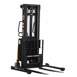 Vestil SL-118-AA Adjustable Stacker W/Powered Lift 118 In - Ergonomic Solutions