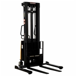 Vestil SL-137-AA Adjustable Stacker W/Powered Lift 137 In - Ergonomic Solutions