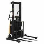 Vestil SL-63-AA Adjustable Stacker W/Powered Lift 63 In - Ergonomic Solutions