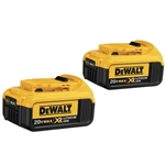Dewalt DCB204 20V MAX Premium XR Lithium Ion Battery Pack - 2 Pack