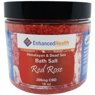 Red Rose CBD Bath Salt Soak